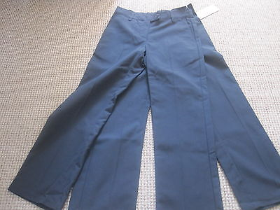 Girls Age 7-8 Navy School Trousers X 2 Pair  New Marks & Spencer Boot Cut