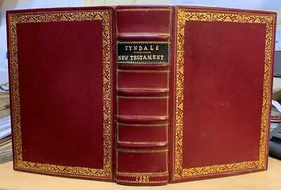 SUPERB '1526 Tyndale New Testament' FINE BINDING !  Ltd Ed Photo Facsimile.