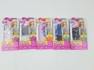 Barbie Fashion Pack lot of 5 Tops & Bottoms