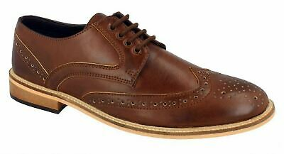 Mens Lambretta Formal Shoes Lace Up Oxford Brogues Smart Casual Office Size