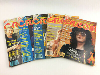 Vintage 1978-79 Creem Magazine Lot of 5, Led Zeppelin, Keith Richards, The Who