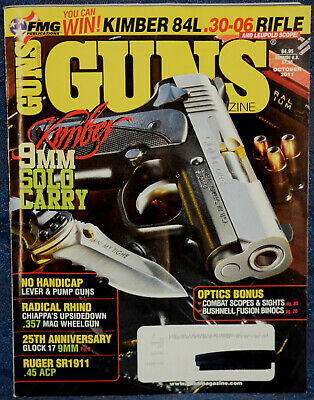 Magazine GUNS October 2011 CENTURY INTERNATIONAL Model C 39, RUGER Model SR1911
