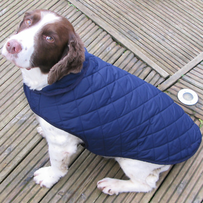 'All Weather' Water resistant Quilted Dog Coat Fleece Lined ( M / L )