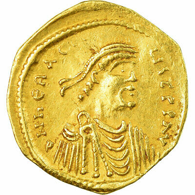 [#657354] Coin, Heraclius, Tremissis, 610-641, Constantinople, AU, Gold