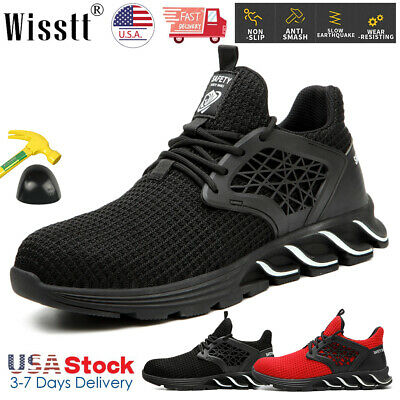 Mens Safety Steel Toe Work Boots Shoes Sport Outdoor Indestructible Sneakers USA