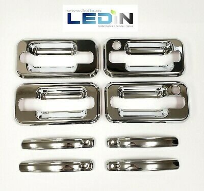 Chrome Handle Cover For 2003-2009 HUMMER H2 SUV SUT W/Passenger Key Hole 8PC Set