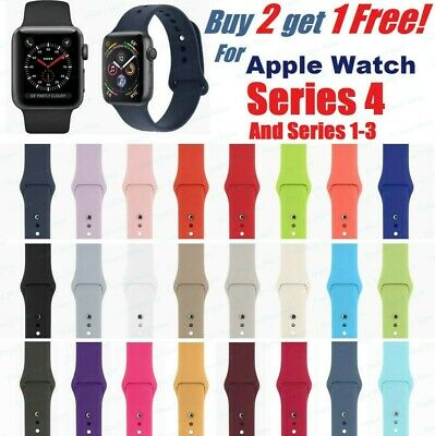 Silicone Band Strap For Apple Watch iWatch Sports Series 3/4/5 38/42mm 40/44mm