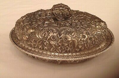 S. Kirk & Son Repousse Sterling Covered Vegetable Dish
