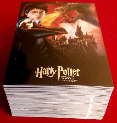 HARRY POTTER, GOBLET OF FIRE - COMPLETE BASE SET, 90 trading cards, ARTBOX 2005