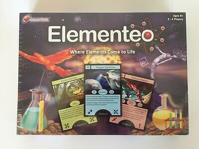 2012 Elementeo Chemistry Periodic Board Game - RARE - OUT OF PRINT [OOP] *NEW*