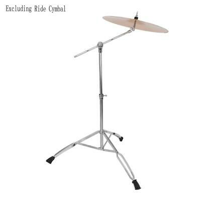 Adjustable Height Cymbal Boom Stand Mount Adapter Double Braced Percussion