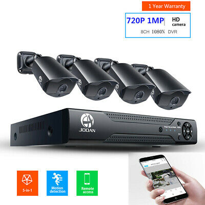 JOOAN 1080P Home Security Camera System Waterproof Outdoor 8CH DVR Surveillance