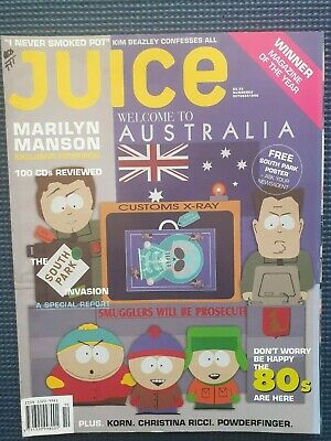 JUICE Magazine #69 Oct 98 South Park, Christina Ricci, Marilyn Manson, Korn