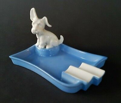 Mid Century Aschenbecher Mit Hund Ashtray Scottish Terrier Wie Goldscheider!!