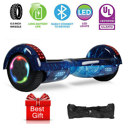 All Terrain Electric Hoverboard Self Balancing Scooter Bluetooth Speaker LED Bag