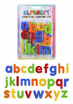 26 Magnetic Letters - Educational Fridge Magnets Alphabet Strong Baby School