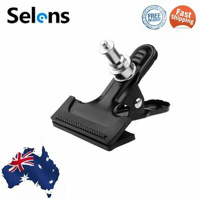 "Selens Metal Clamp Clip Holder 1/4"" Screw f Light Stand Reflector Flash Umbrella"