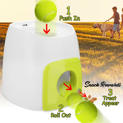 Automatic Interactive Pet Dog Tennis Ball Toy Thrower Fetch Hyper Training Game