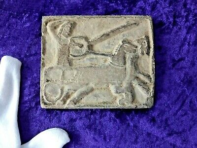 Roman stone plaque depicting a War Chariot Circa. 50 BC
