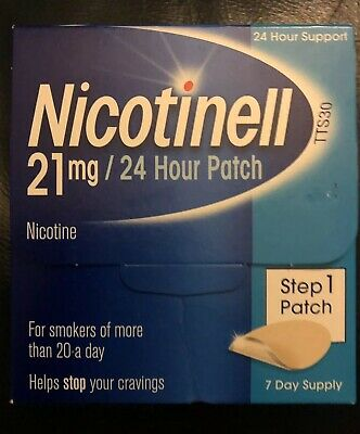 Nicotinell Patch - Step 1 - 21mg Patch - 7 Day Supply - With 24 Hour