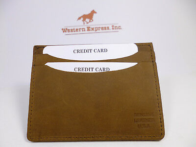 Western Express Double-Sided C.Card Case-4 Slots-Black & Brown-USA Made-#LW-955