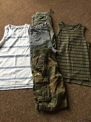 Bundle Of Boys Age 9 Holiday Clothes Shorts & Vests Next