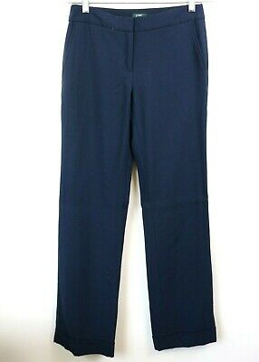 J Crew Womens Pants Trousers Lined Favorite Fit Navy 100% Wool Career Size 2T