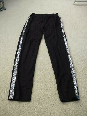 NEW BODEN Black Trousers with sequin detail down legs Age 13 PARTY OCCASION XMAS
