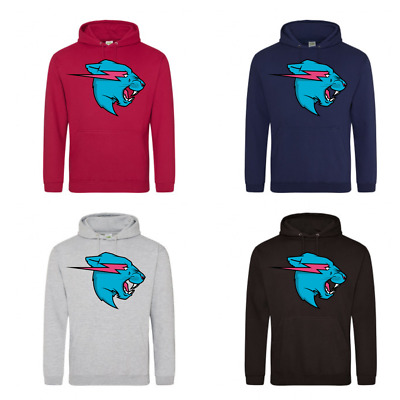 Mr Beast Lightning Cat Logo Hoodie Youtuber Kids And Adults