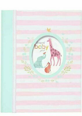 New NWT Carters CR Gibson Darling Baby Girl Animal Baby Memory First Record Book