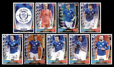 Match Attax Spfl 2019/20 Queen Of The South Full 9 Card Team Set