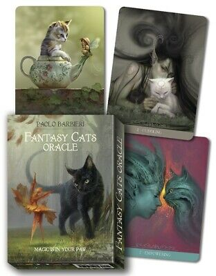 Fantasy Cats Oracle Cards by Paolo Barbieri 9788865276105