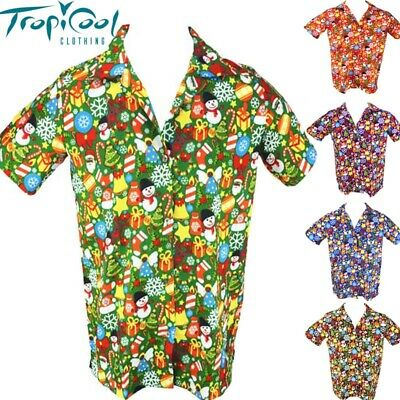 Christmas Celebrations Mens Hawaiian Shirts