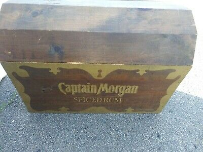 Captain Morgan Spiced Rum Wooden Chest Trunk NEW PICS and Description.