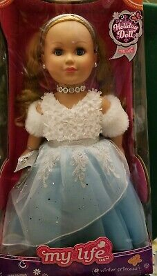 "My Life Holiday Winter Princess, 18"" Blonde Doll NEW"