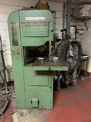 "Rockwell Delta Wood Metal Vertical Band Saw 20"" Model 96-329 With Welder Bandsaw"