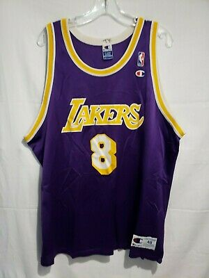 Rare Vintage 🔥 90s Los Angeles Lakers Kobe Bryant 8 Champion Jersey Mens 48 XL