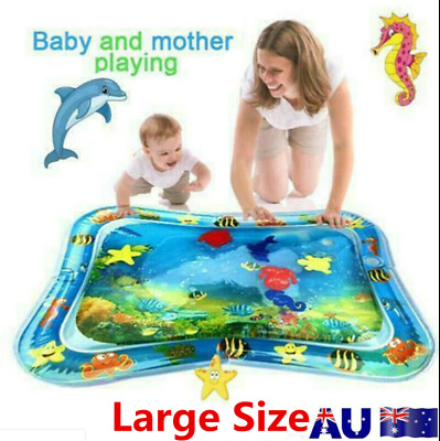 Baby Water Play Mat Inflatable For Infants Toddlers Tummy Time Sea World-Blue-AU
