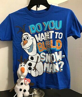 """DISNEY STORE FROZEN OLAF SUNNY YELLOW TEE T-SHIRT FOR KIDS NWT /""""SUMMER DREAMIN/"""""""