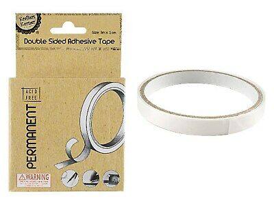 Permanent DOUBLE SIDED ADHESIVE TAPE Roll 4 Scrapbooking Card Making Cards Craft