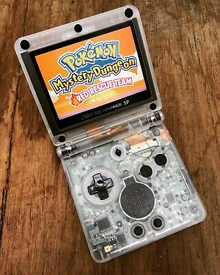 Gameboy Advance SP Clear Edition Backlit IPS 101 GBA SP Handheld Gaming Console