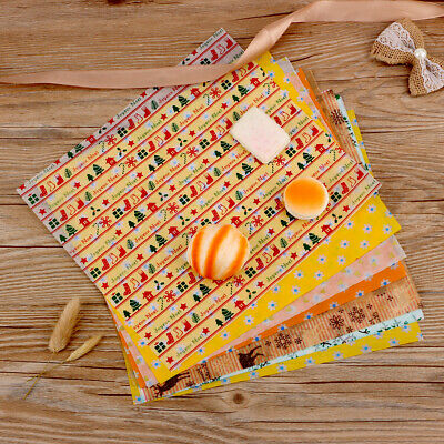 50pcs Xmas Food Wax Paper Wrapping Paper Candy Bread Burger Sandwich Baking Wrap