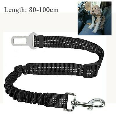 Adjustable Pet Dog Car Seat Belt Clip Bungee Lead Vehicle Travel Safety Harness