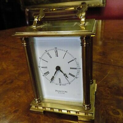 Carriage clock 8-day movement striking on bell 13-jewels West Germany