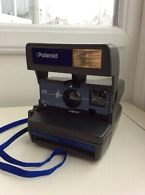 Fully Tested Polaroid 636 Rare blue edition Instant Camera & built in flash