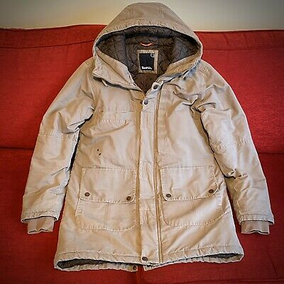 Mens Bench Parka Coat Jacket Heavy Winter Luxury With Fur Hood Size Medium M