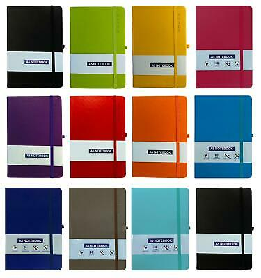 A6/A5 Hardback Lined Notebook Ruled Notepad Notes Diary Journal Premium Quality