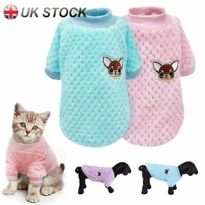 Pet Clothes Knitted Puppy Dog Jumper Sweater For Yorkie Chihuahua Small Dogs Cat