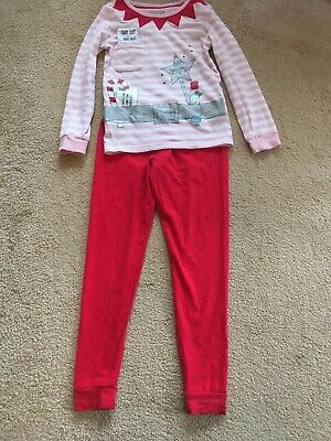 Girls Fairy Elf Christmas Pyjamas Marks & Spencer 5-6 Years Snuggle Fit
