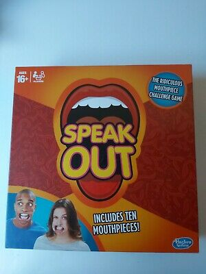 Genuine Speak Out Game Board Party Mouth Piece Challenge Family Kids Fun Hasbro